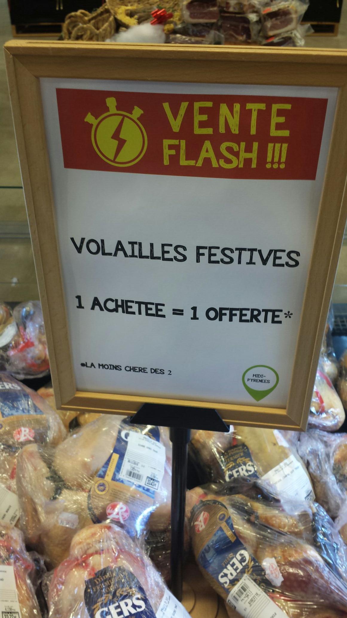 Une volaille festive label rouge du Gers achetée =  une offerte