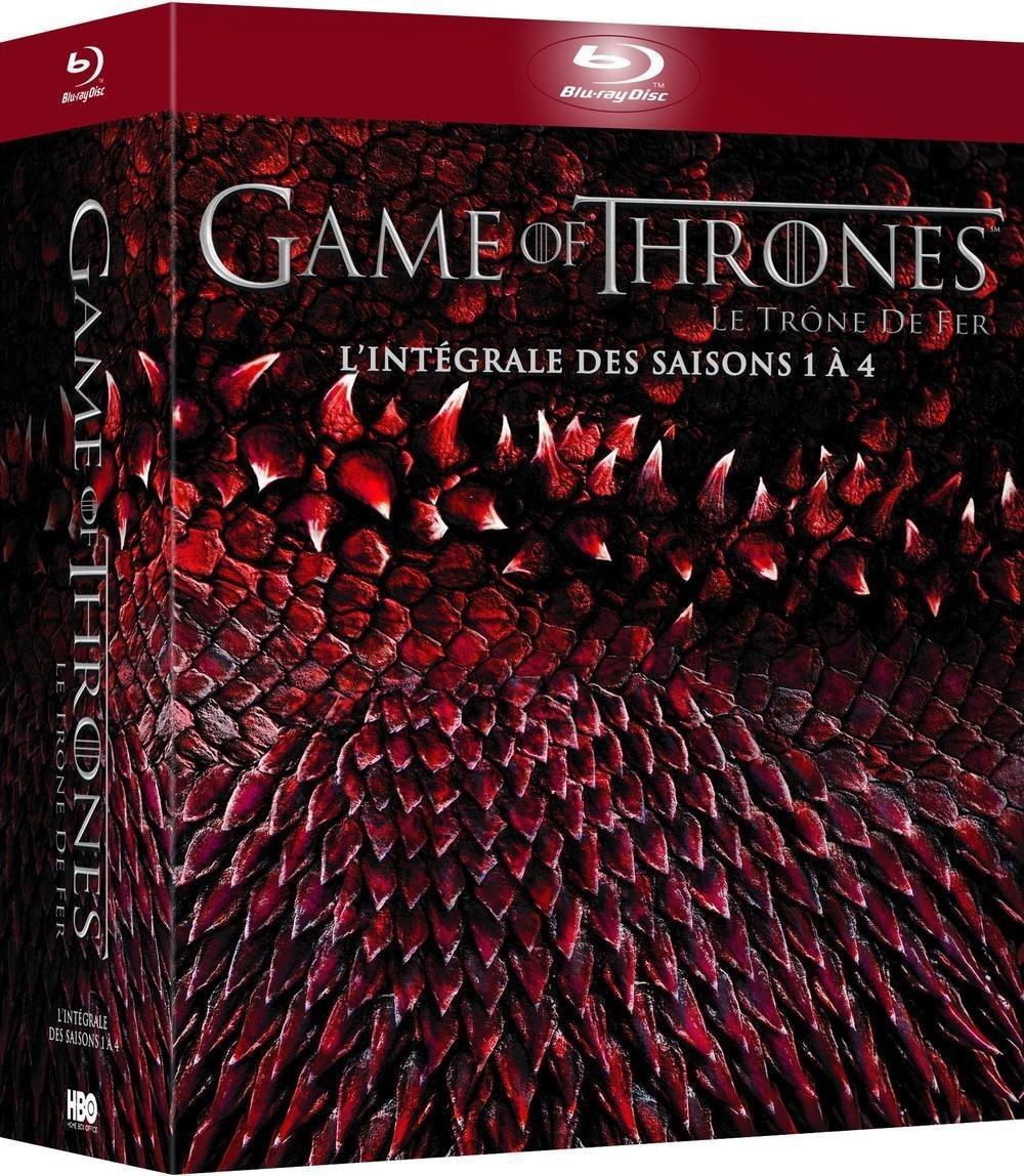 Coffret Game of Thrones (L'intégrale des saisons 1 à 4) - DVD à 32,99€ et Blu-ray