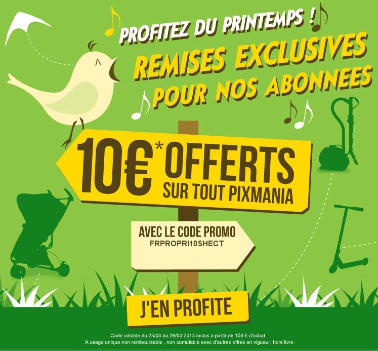 -10 € offerts dès 100€ d'achat valable sur tout le site (hors promo) + livraison gratuite