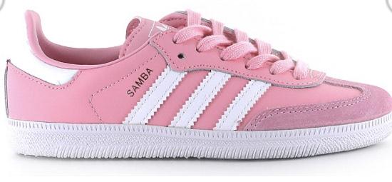 Sneakers Femme Adidas Samba OG J - Rose/Blanc & Tailles au choix