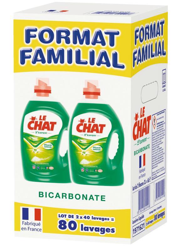 Lessive liquide Le Chat 2x 3L (avec 9€ sur la carte Waaoh)