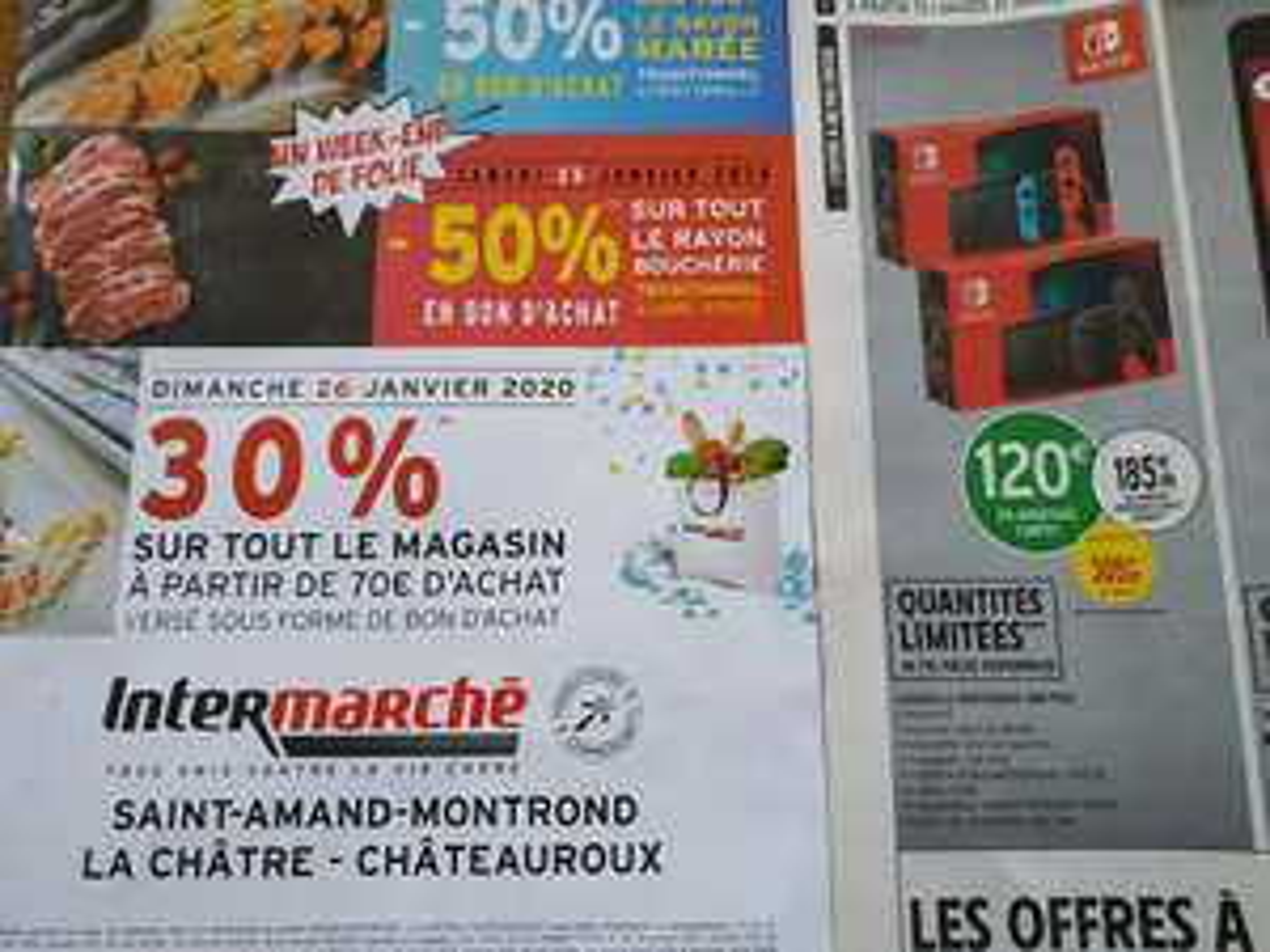 30% offerts en bon d'achat dès 70€ sur tout le magasin - Saint Amand Montrond / Châteauroux (36)