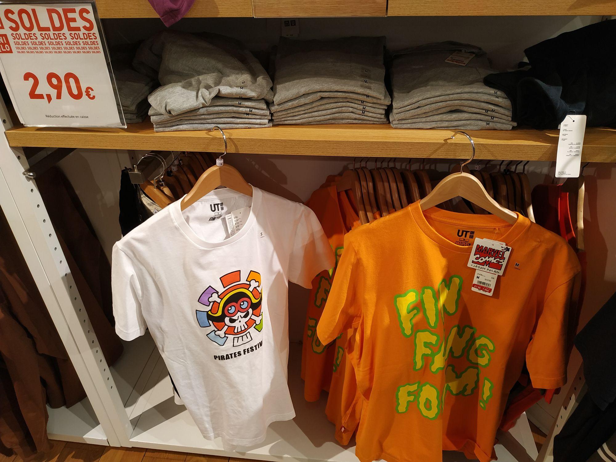 T-shirt Marvel ou One Piece - Différentes tailles - Paris Nation (75011)