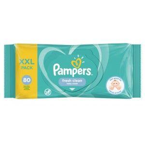 Lot de 2 paquets de lingettes Freshclean Pampers (x160)