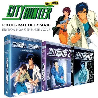 Pack 3 Coffrets DVD Nicky Larson / City Hunter - Intégrale - Uncut - Non censuré