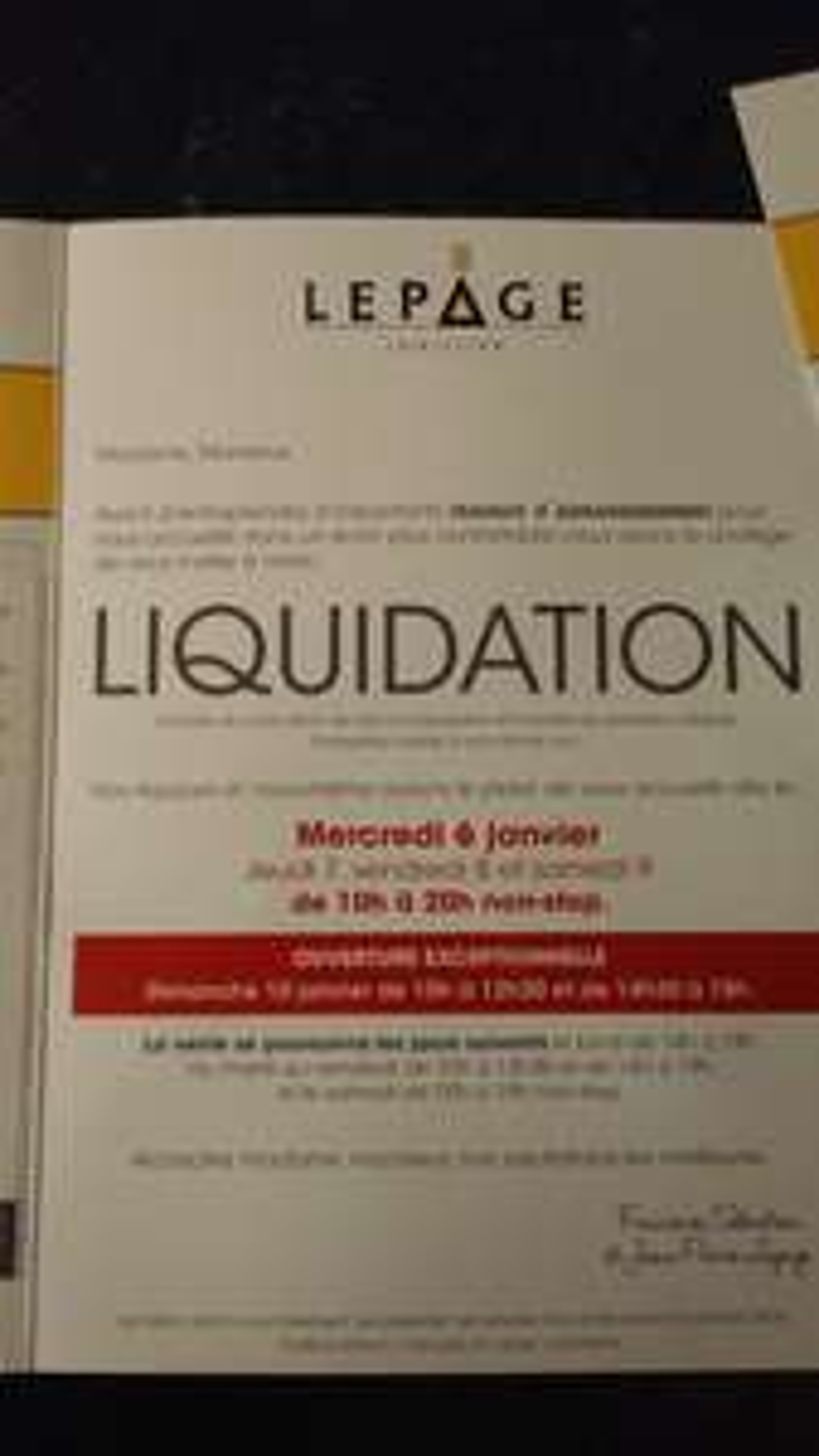 Liquidation : 50% de réduction sur de nombreux articles