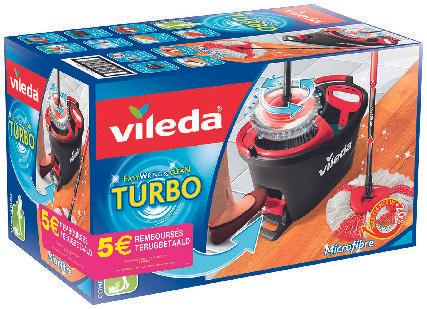 Set complet Vileda Easy Wring & Clean Turbo balai à frange + seau à pédale (via ODR de 5€)