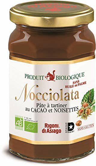 Pot 700g de pâte à tartiner Bio au cacao et aux noisettes Nocciolata Rigoni di Asiago - Leclerc Bio & Italien (06)