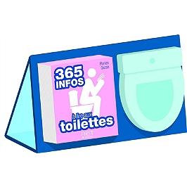 Sélection de coffrets en promotion - Ex : Coffret 365 infos à lire aux toilettes (1 livre + 1 chevalet + 1 éphéméride + 1 bloc pense-bêtes)