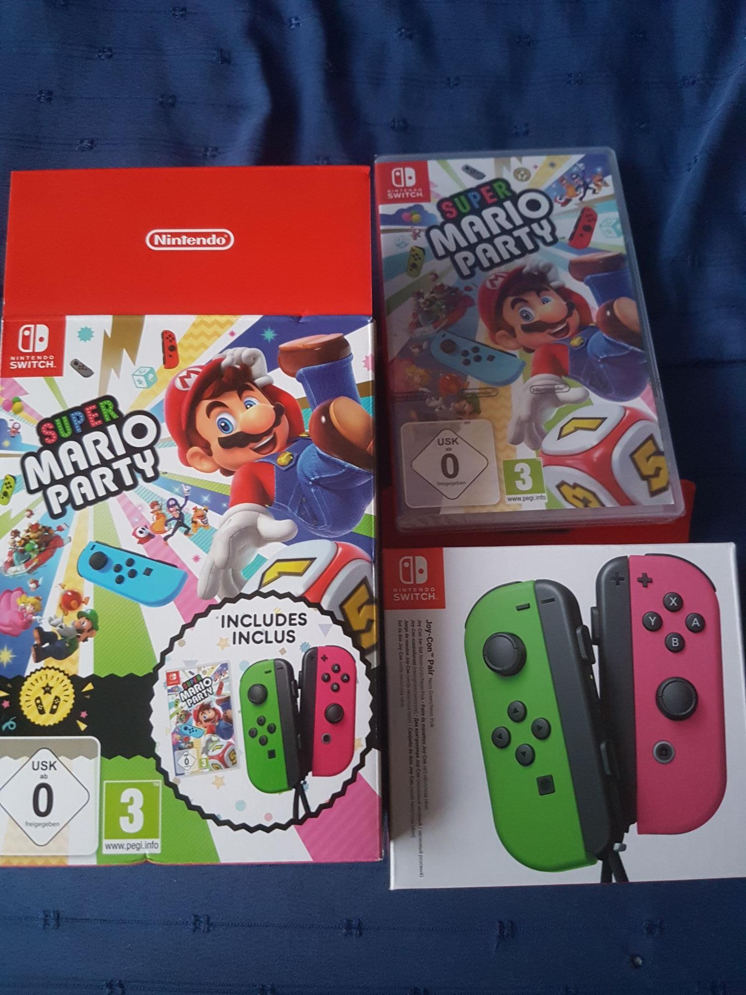 Pack Super Mario Party sur Switch + paire de manettes Joy-Con (vert/rose) - Saint-Pierre-des-Corps (37)