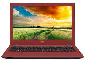 "PC Portable 15"" Acer Aspire E5-573-37Y4 (Intel Core i3, RAM 8 Go, HDD 1 To, Mise à jour Windows 10 gratuite) - Noir/Rouge"