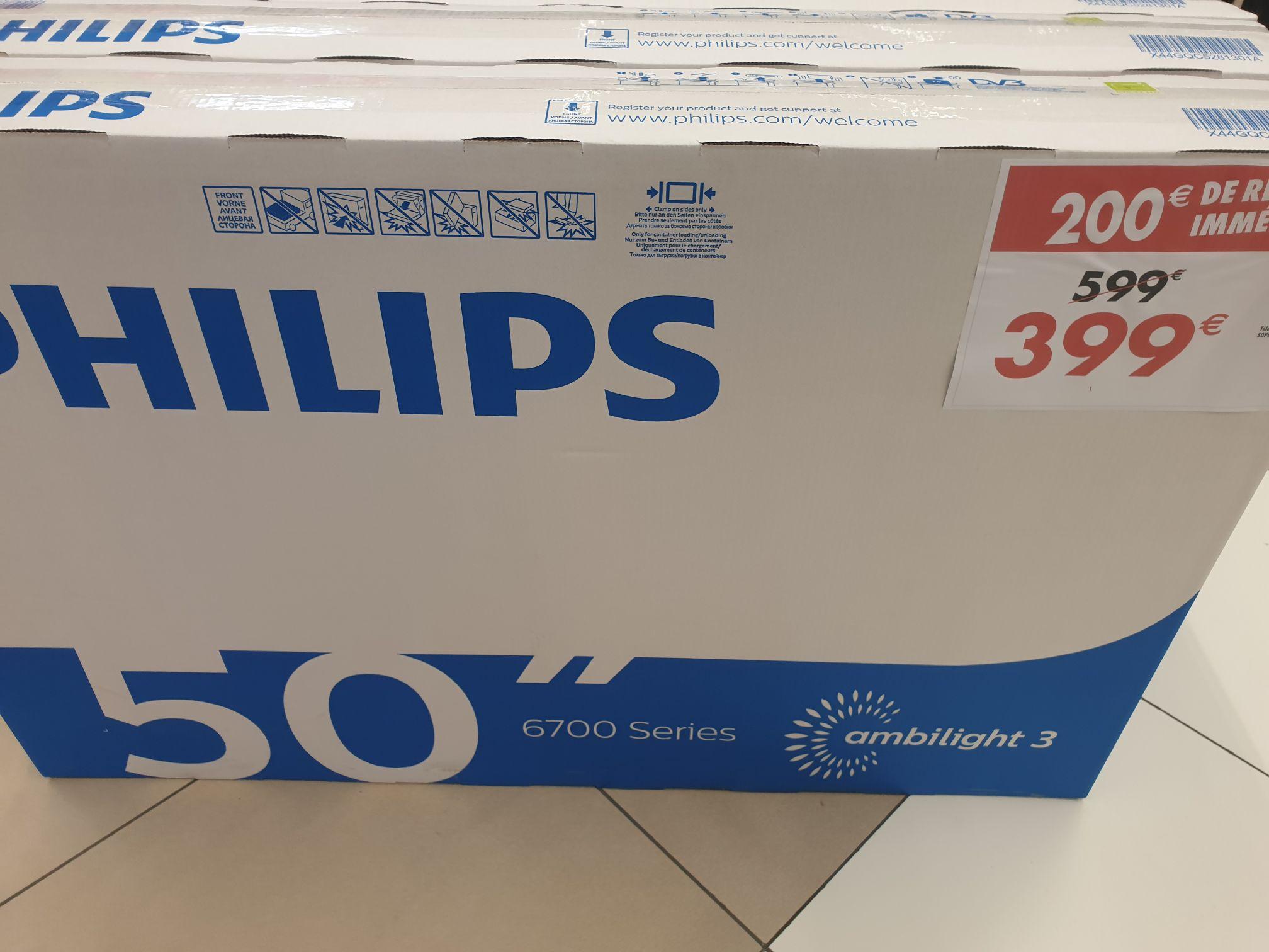 """TV LED 50"""" Philips 50PUS6704/12 Ambilight 3 Côtés - UHD 4K, HDR, Smart TV - Portet-sur-Garonne (31)"""