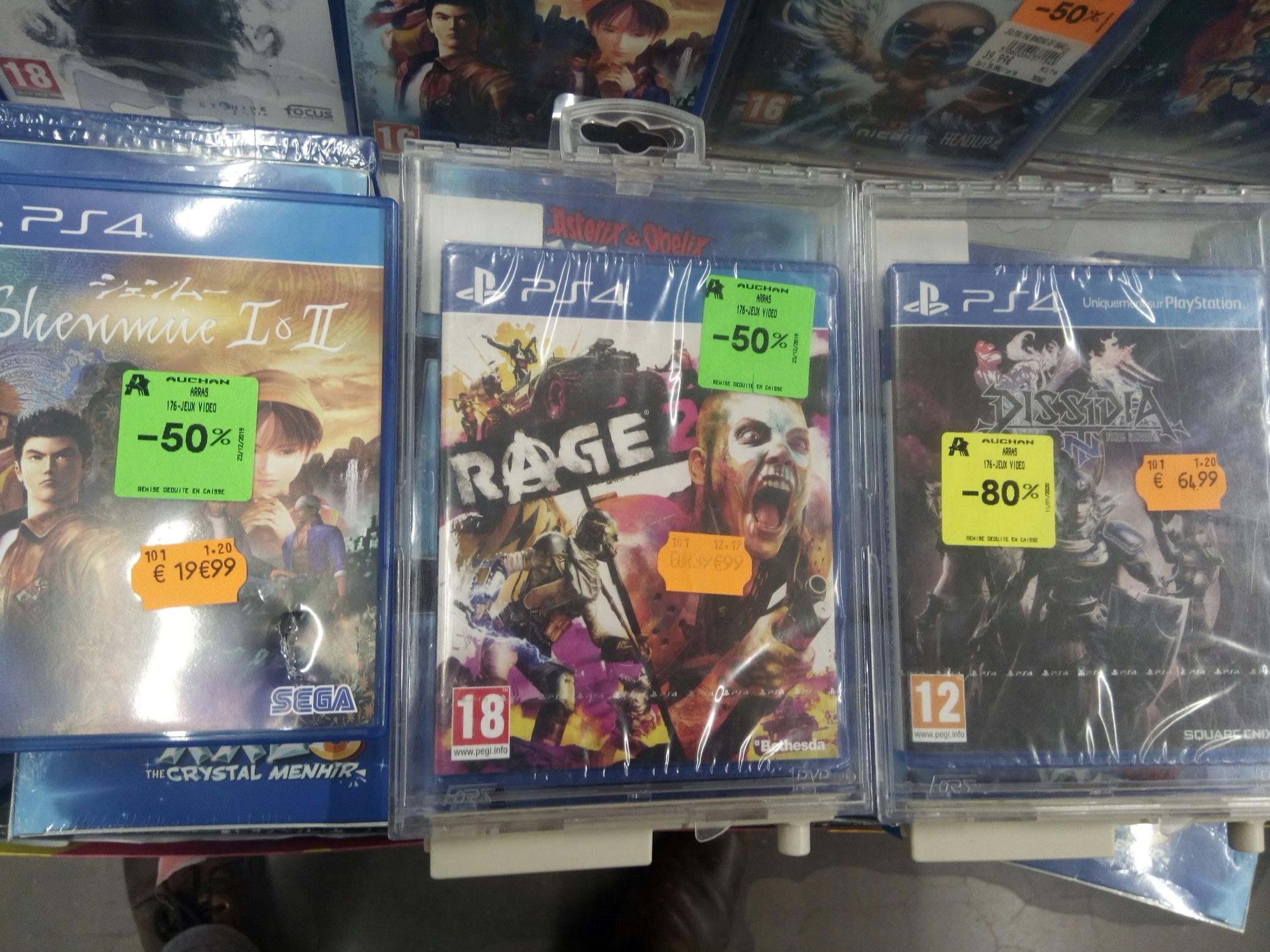 Sélection de Jeux PS4 en promotion - Ex : Shenmue I & II (Arras 62)