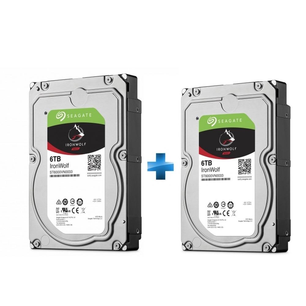 "Pack de 2 disque dur interne 3.5"" Seagate IronWolf - 6 To, 256 Mo cache - (339,95€ avec le code GLITCH)"