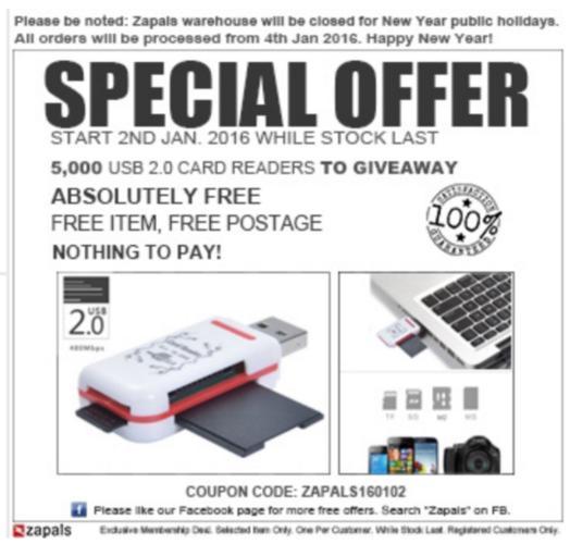 [Nouveaux comptes] Lecteur de cartes mémoires USB 2.0 gratuit