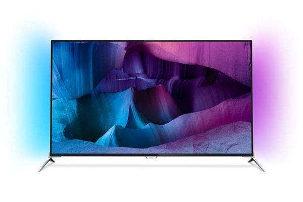 """TV 55"""" Philips 55PUS7100/12 - 4K, 3D, Ambilight + 4 paires de lunettes (ODR de 150€ et 42€ sur la carte)"""