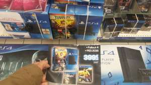 Pack PS4 500 Go Lego Jurassic World / Tearaway + Fallout 4 + PES 2016