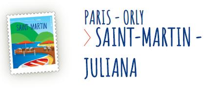 Vol A/R Paris - Saint martin à partir de 349€ : Exemple du 28 avril au 19 mai (sans bagage)