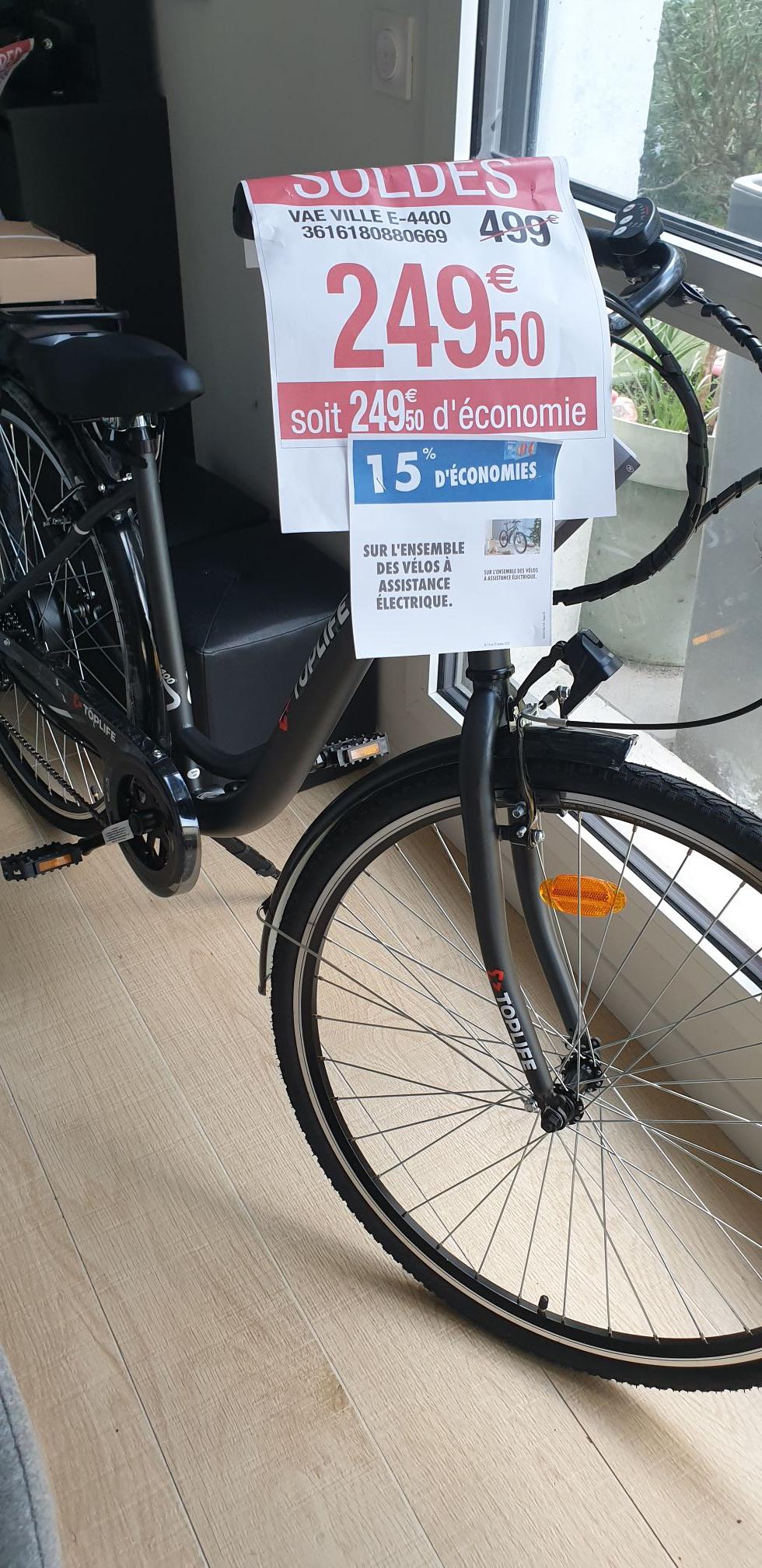 Vélo à assistance électrique TopLife E-4400 (Via 37.50€ sur la Carte) - Mérignac (33)