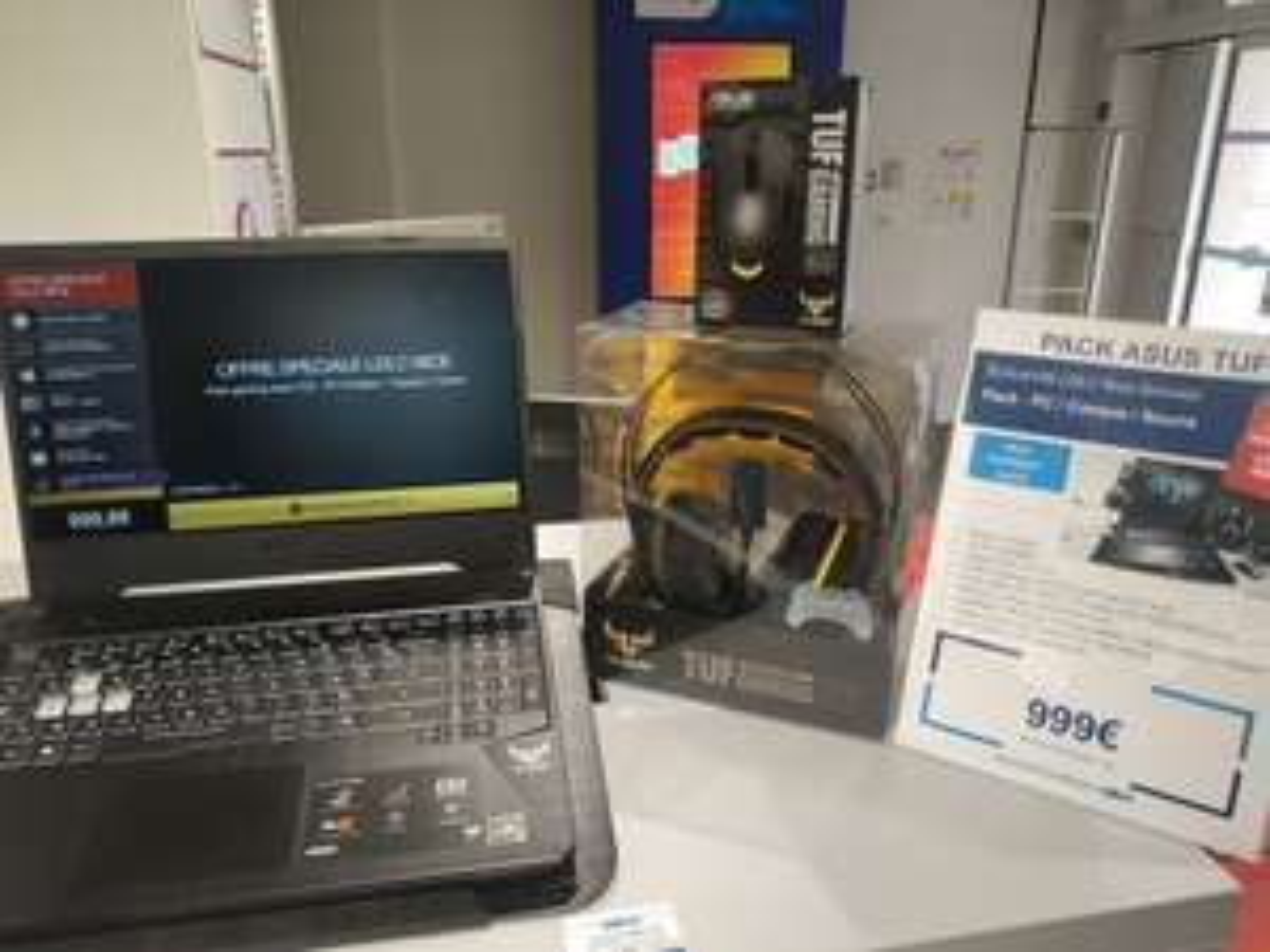 "PC Portable 15.6"" Asus TUF505DT-AL218 - Ryzen 5-3550H, 16Go RAM, SSD 512Go, GTX 1650, 120hz + Casque TUF H3 ou H7 + Souris Tuf M5 (Nice 06)"