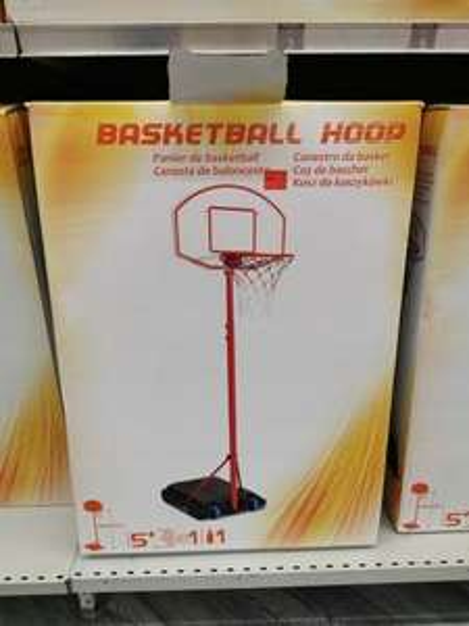 Panier de basket ball avec son ballon + pompe - Carrefour Sevran (93)