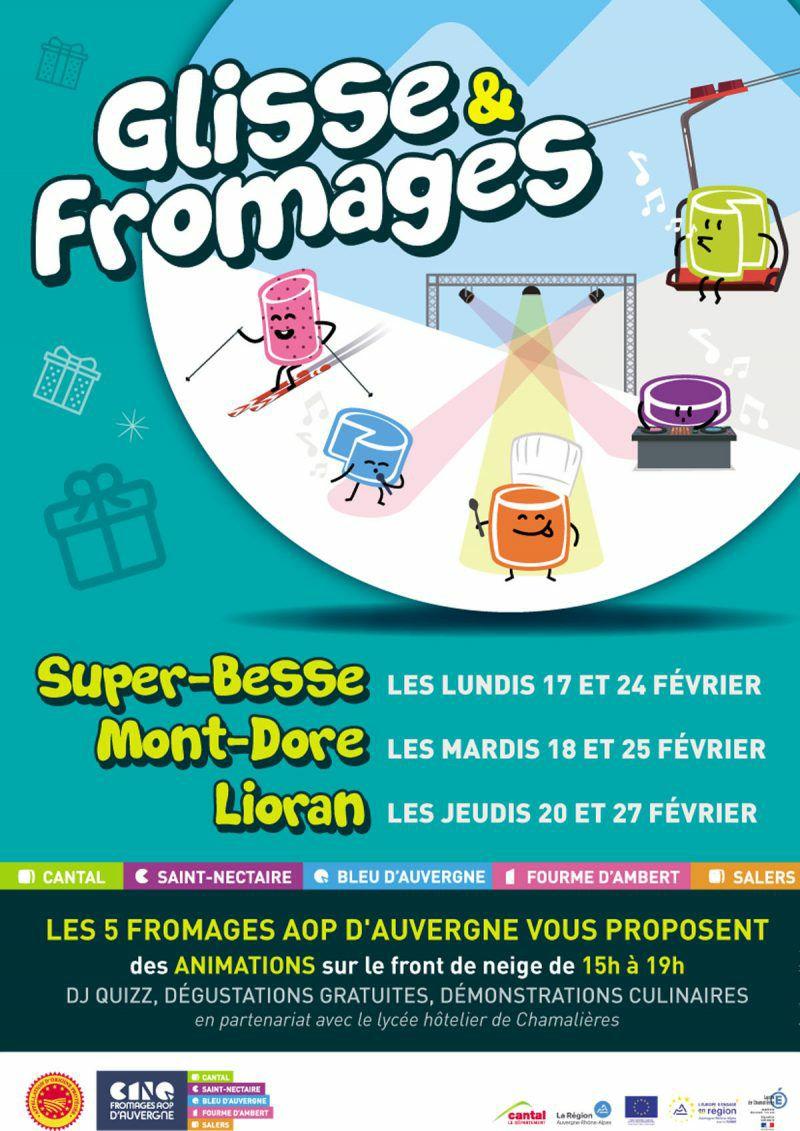 Dégustation gratuite de fromages AOP d'Auvergne les 17 et 27 Février à Super-Besse, Mont-Dore et Lioran