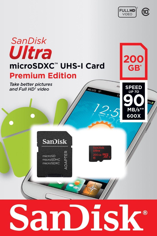 Carte microSDXC SanDisk Ultra Classe 10 - 200 Go