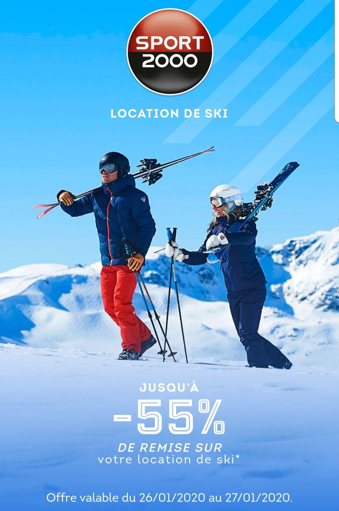 Carte Rose Sport 2000: Jusqu'à 55% de remise sur votre location de ski