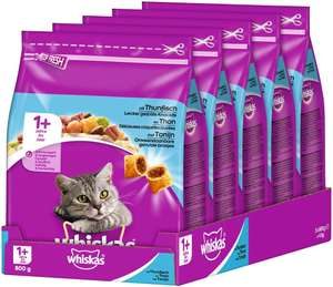 Lot de 5 paquets de croquettes pour chat Whiskas Adult - 5 x 800g