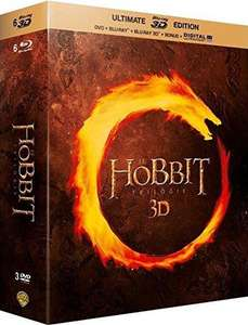 Coffret Blu-ray 3D / Blu-ray / DVD  Le Hobbit - La trilogie Ultimate  (15 disques)