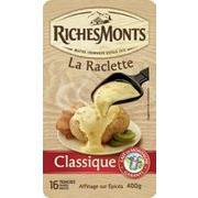 3 paquets de fromage à raclette Richesmonts 3x400 grammes (via ODR)