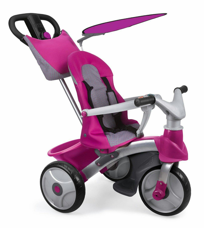 Tricycle Feber Baby Trike Easy Evolution 4-en-1 - Rose
