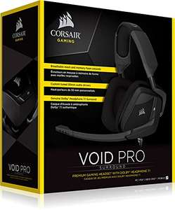 Casque-Micro Filaire Corsair VOID Pro Surround compatible PC, PS4 & Xbox One - Dolby 7.1