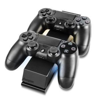 Chargeur double Energizer 2x Extra Life pour PS4 - Noir