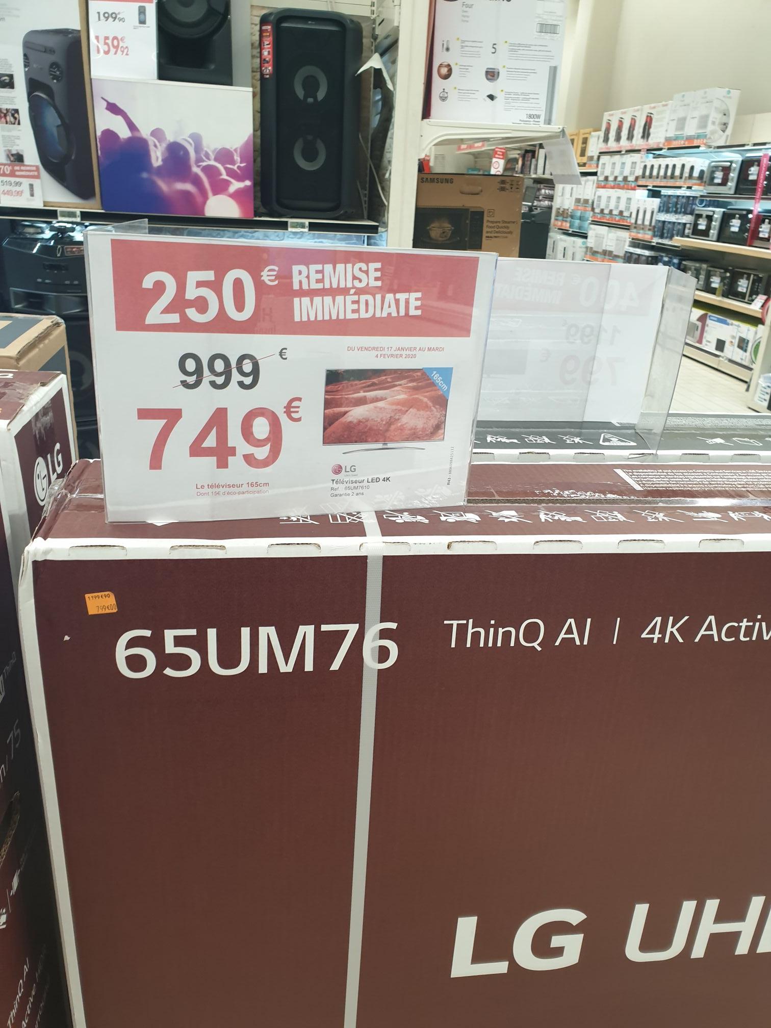 """TV 65"""" LG 65UM76 - 4K UHD - Euralille (59)"""