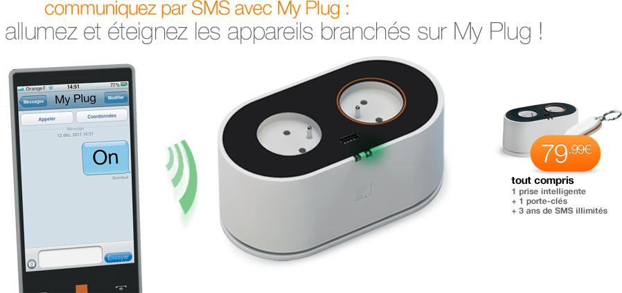 My Plug - Prise intelligente d'Orange, pilotée à distance par SMS