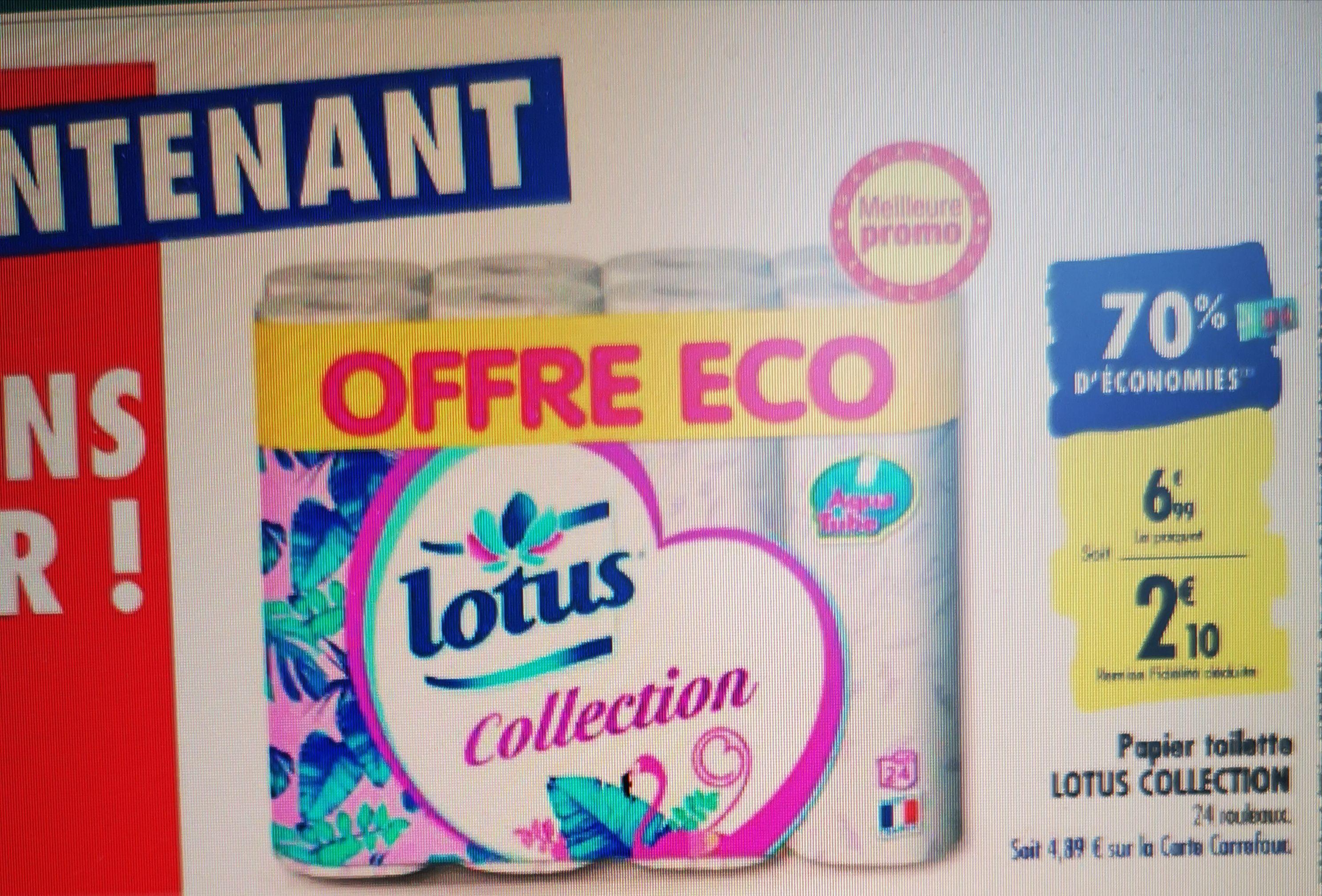 Paquet de 24 rouleaux de papier-toilette Lotus Collection (via 4.89€ sur la carte de fidélité)
