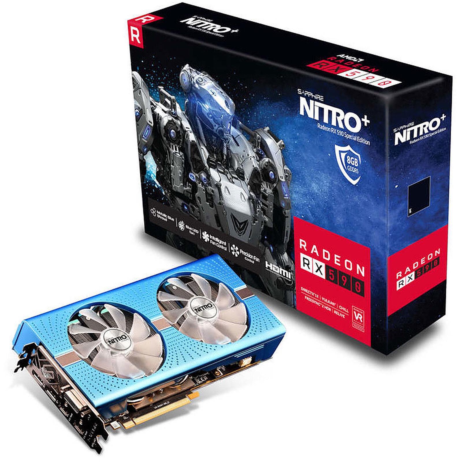 Carte graphique Sapphire Nitro+ Radeon RX 590 - 8Go + Abonnement de 3 mois au Xbox Game Pass