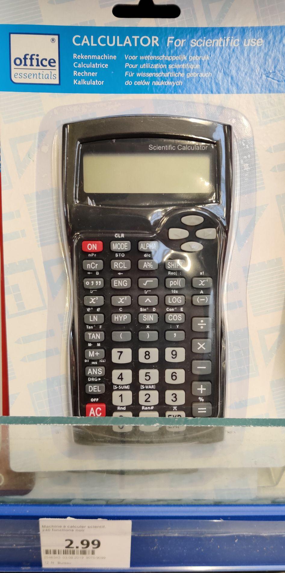 Calculatrice Scientifique Office Essentials - Chelles (77)