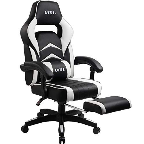 Chaise gaming de bureau Umi - Noir/Blanc (Vendeur Tiers)