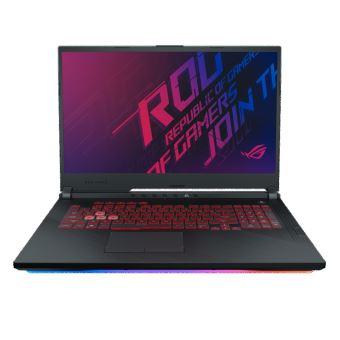 """PC Portable 17.3"""" Asus Strix3 G G731GU-H7154T - i7-9750H, 16 Go de Ram, 512 Go, GTX 1660Ti"""