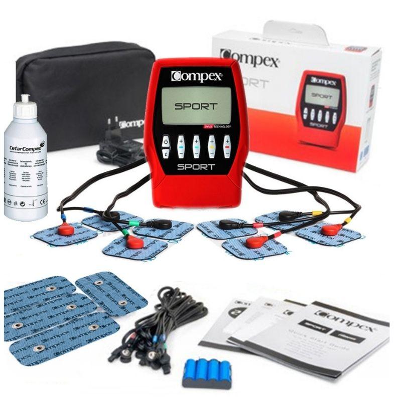 Électrostimulateur Compex Sport (rouge/noir) + accessoires
