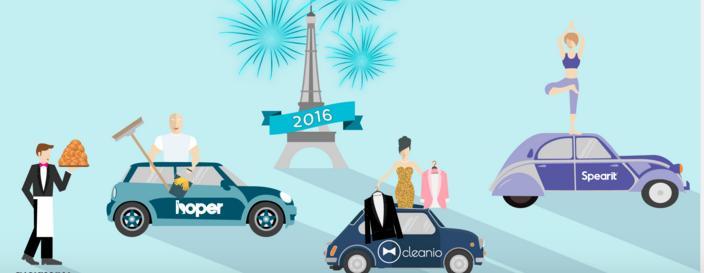 1 service gratuit au choix (MyHoper, Cleanio ou Spearit) sur Paris