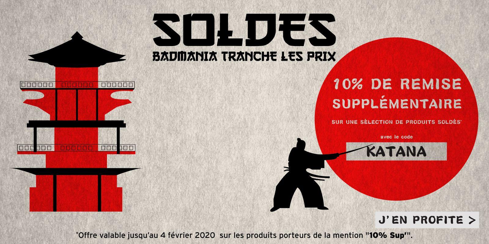 10% de réduction sur une sélection d'articles Kawasaki, Li-Ning, Sotx et Victor - Badmania.fr