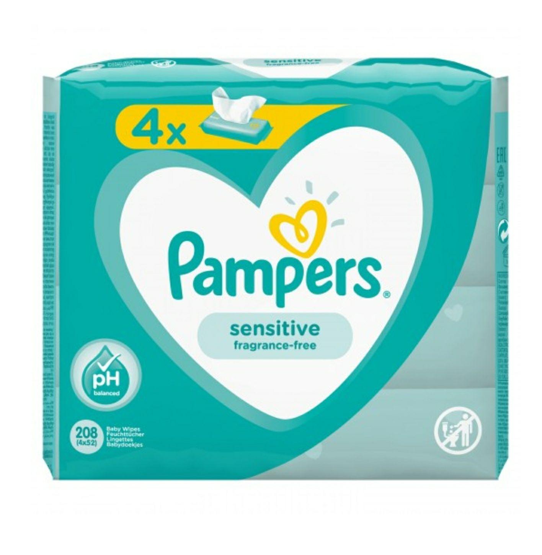 4 paquets de lingettes bébé Pampers Sensitive