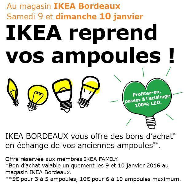Rapportez vos anciennes ampoules et recevez un Bon d'achat de 5€ ou 10€
