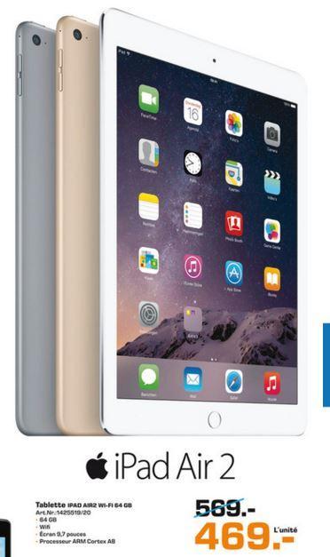 """Tablette 9.7"""" Apple iPad Air 2 Wifi - 64 Go"""