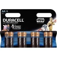 Sélection de piles de la marque Duracell et Varta en promotion - Ex : Lot de 8 piles AA LR06 Duracell ULTRA POWER Star Wars