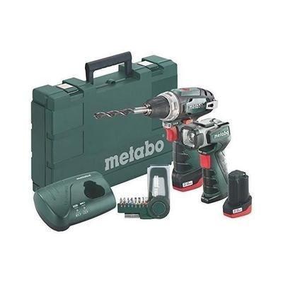 Perceuse-visseuse sans fil Metabo PowerMaxx BS Basic Set 2x2Ah + chargeur + Coffret d'embouts SP + Lampe LED