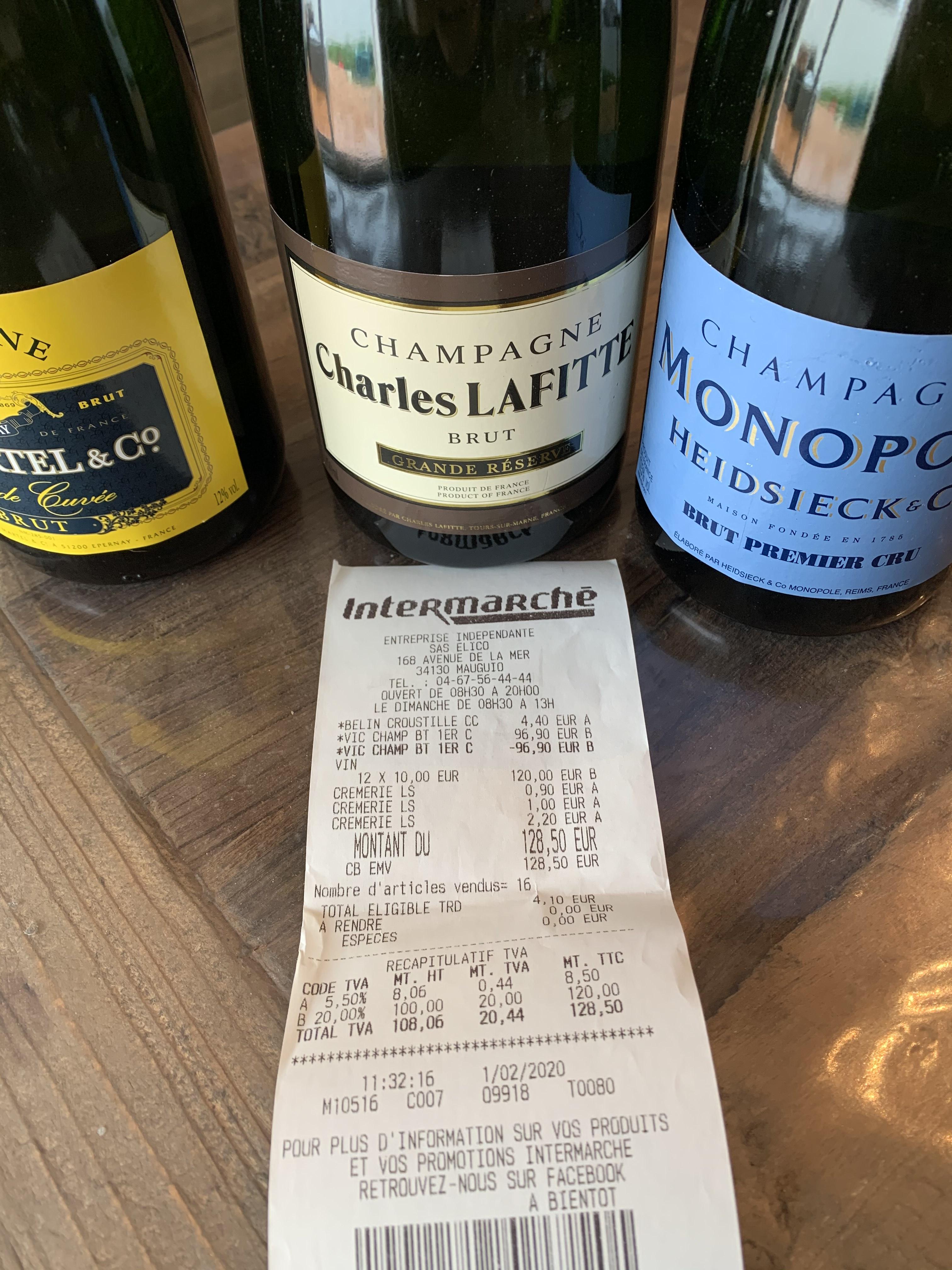 Sélection de Bouteilles de Champagne à 10€ - Ex : Charles Lafitte Brut (Mauguio 34)